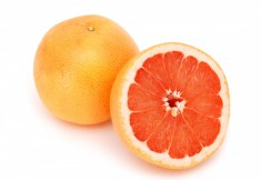 Red grapefruit segments - Star Ruby   photo