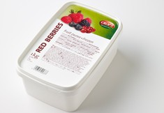 Red berries  puree photo