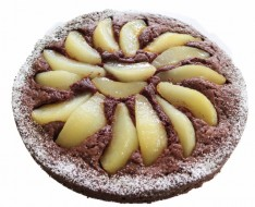 Chocolate pear pie photo