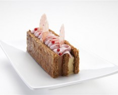Millefeuille of Strawberry Mara des Bois photo